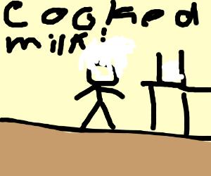 Einstein invents cooked milk!