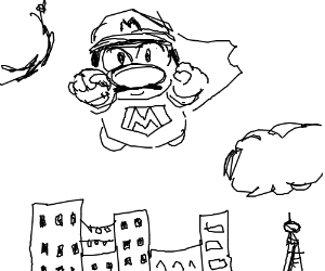 black & white super mario