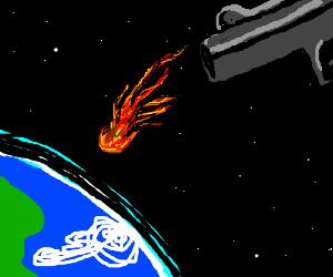 Meteorite handgun