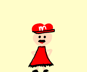 Cross-dressing mario