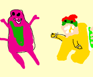 Barney Replaces Bowser
