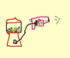 pink gumball gun