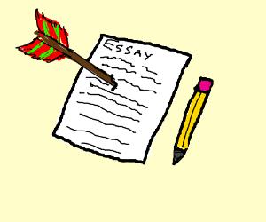 I took an arrow to the essay