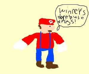 Mario makes a PSA for drug abuse