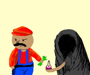 Mario tries to buy Peach's love