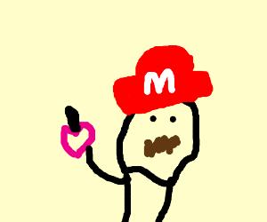 Mario gets some dark magic love potion