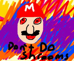 Mario Teaches Child Lesson: Don't Take Shrooms