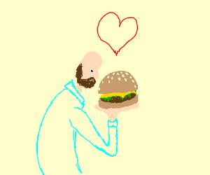 Dude loves Burger