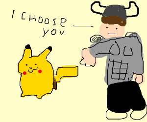 Viking warrior chooses Pikachu!