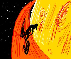 cycling on saturnus