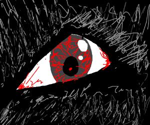 an evil wolf's eye