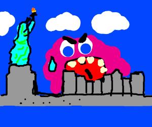 blob eats NYC