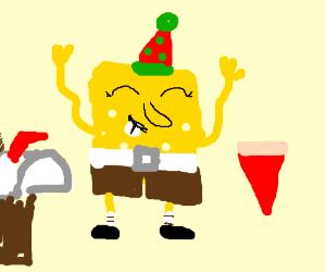 SpongeBob & Friends go to Pizza Mailbox Diner.