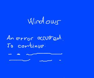 Blue screen, OF DEATH