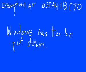 typical interaction with Windows PC