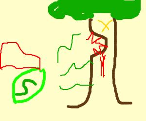 Lime power overwhelms tree monster