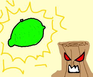 Green lemons and evil tree stump