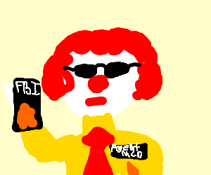 Ronald Mcdonald gets hired by the FBI