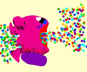 Kirby's confetti fatality
