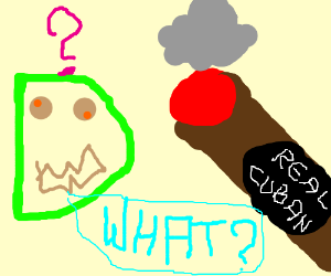 """""""D"""" confused by cigar"""