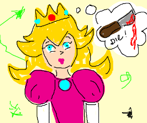 Princess peach dreams about murder