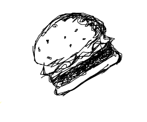 A mcdonalds hamburger