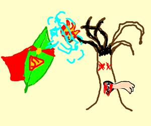 SuperLeaf saving a dead carnivorous tree