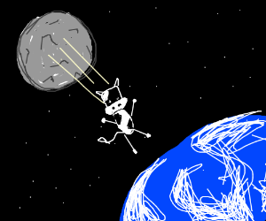 the cow jumped off the moon down to earth