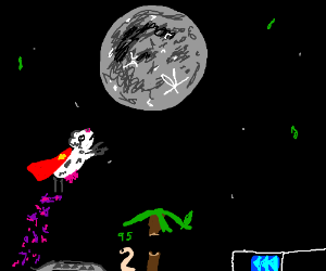 Super cow shoots for the moon
