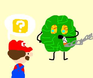 "New boss in Mario ""Lettuce Smoke Pot"""