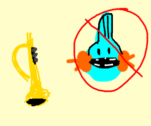 Blow the horns and do NOT look at mudkip! O_O