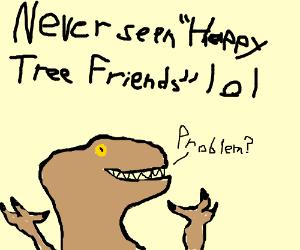 petunia from happy tree friends eats flippy