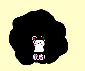 Sad Panda's black is spreading.