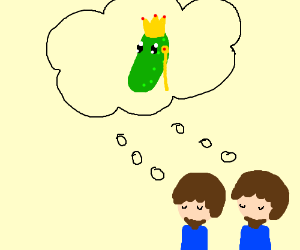 Bearded twins dream of the pickle king