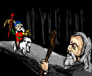 sir dydymus won't let gandalf pass