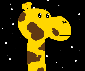 This giraffe can see into space!