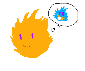 Flame would like to have a blue flame child.