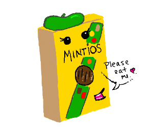 Sentient girl scout cereal box