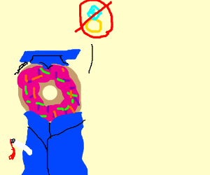Donut objects to marriage, graduate style