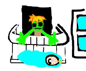 Zombie babysitter drops baby from balcony