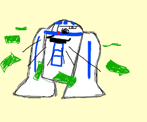 R2-D2 spews money