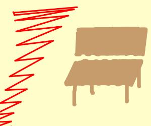 FLYING RED LINE TORNADO ATTACKS BENCH!
