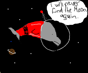 Delphin the Moon dolphin gets lost in space