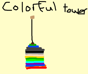 Colorful tower