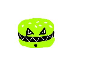 Evil green burger