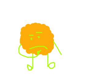 Orange perplexed puffle