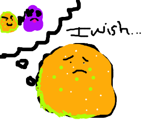 Ritz cracker wishes he could shoot the purple