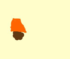 Meatball wearing a sombrero