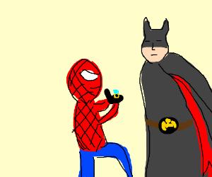 Spiderman proposes to Batman