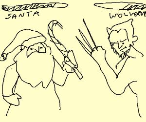 Combat video game x-men versus santa